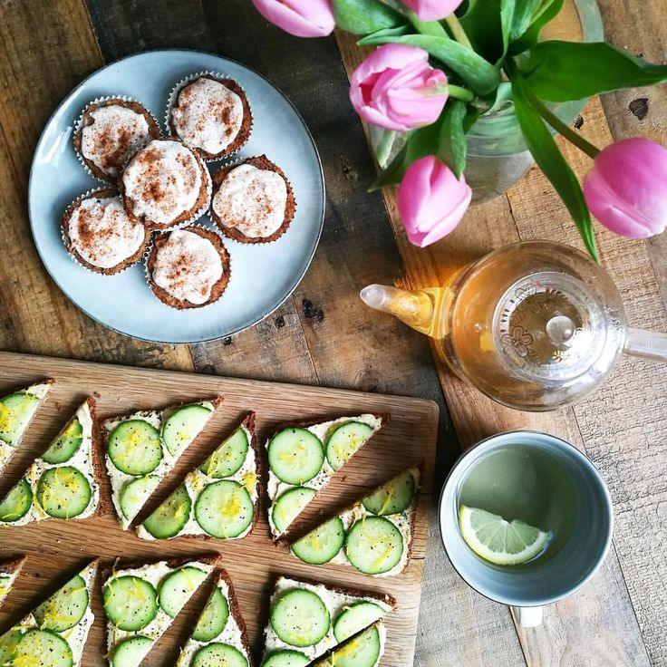 "10.5k Likes, 61 Comments - Deliciously Ella (@deliciouslyella) on Instagram: ""Easter tea celebrations with ginger muffins and cucumber & lemon butter bean hummus open sandwiches…"""