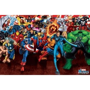 Marvel Heroes - Attack - Maxi Poster - 61 cm x 91.5 cm: Amazon.co.uk: Kitchen & Home