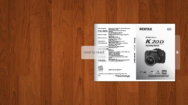 Pentax K20 D Manual