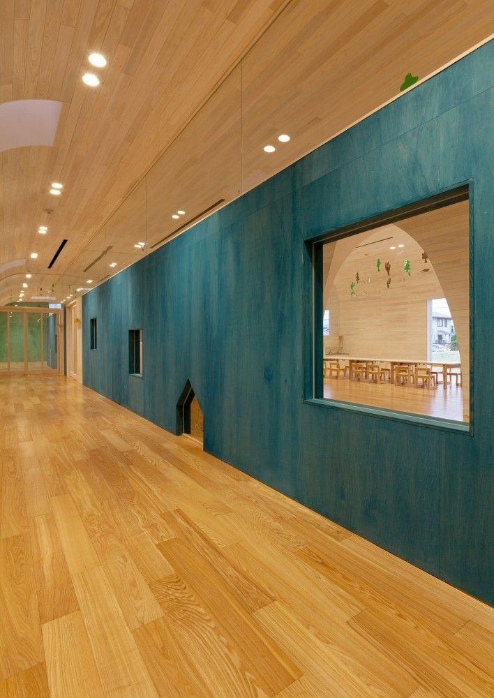 Leimond-Shonaka Nursery School by Archivision Hirotani Studio | playful wall