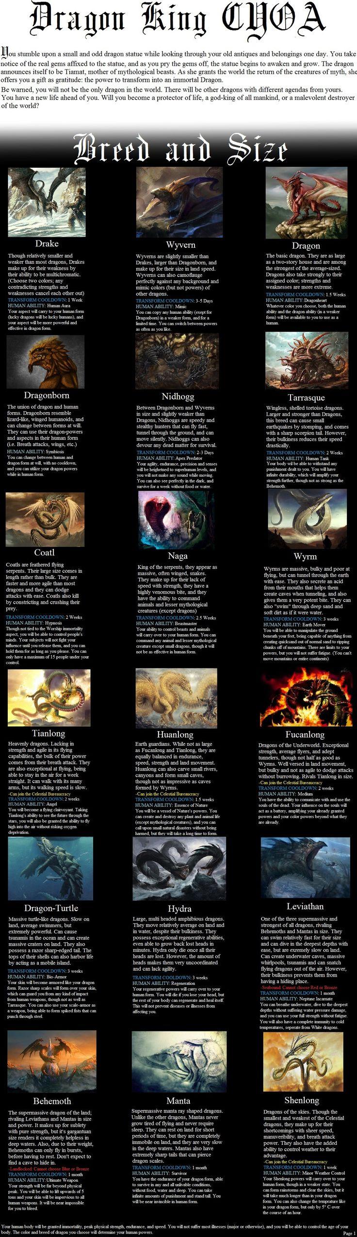 Updated Dragon CYOA