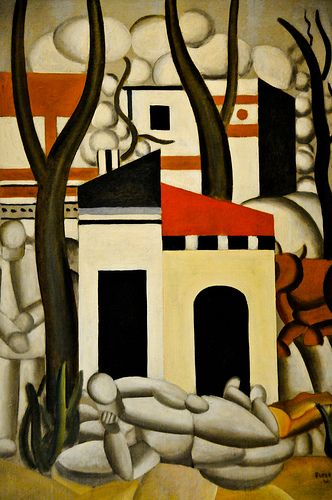 Fernard Leger - Paysage Adnimee, 1921. Oil on Canvas. Currently at the Virginia Museum of Fine Arts (VMFA) Richmond VA