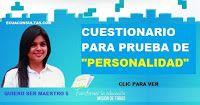 Banco de preguntas para prueba de personalidad quiero ser maestro 5 - Ecuaconsultas