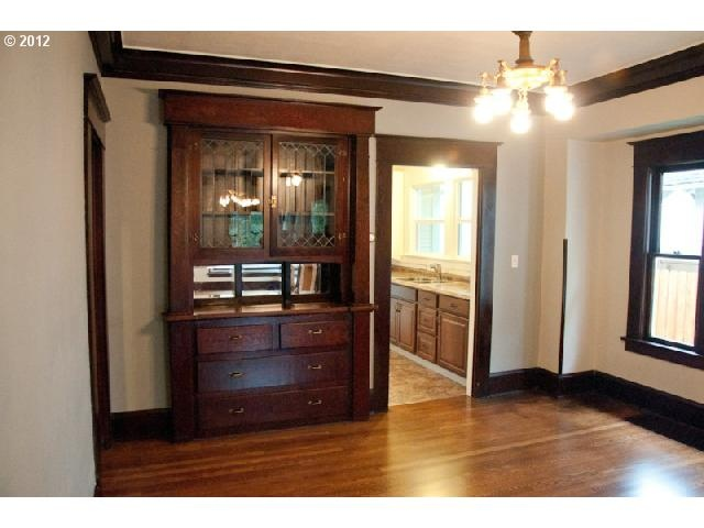 1912 home office in hollywood rose city area coffered for Craftsman style office