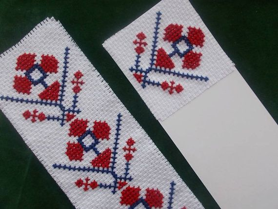 Bookmark modern floral cross stitch pattern by CamisTheCrossStitch