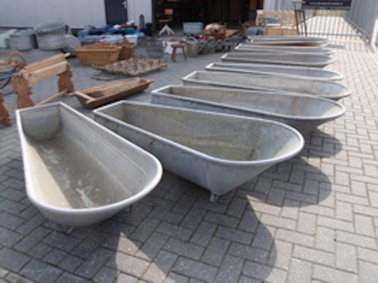 Vintage Galvanized Bath Tubs From The 1940s And Earlier