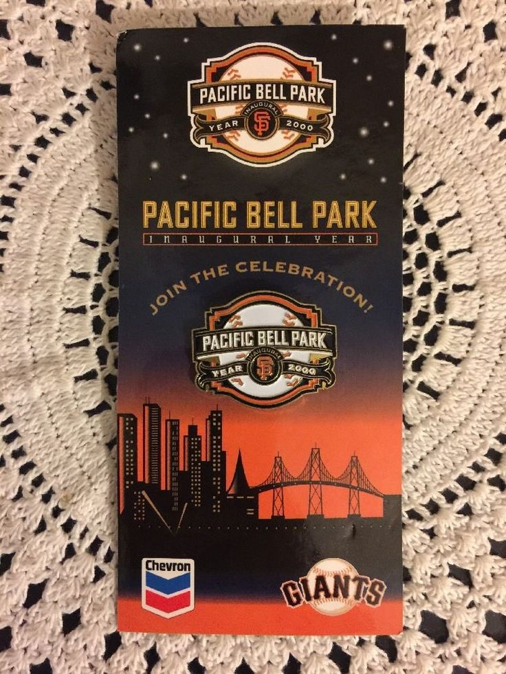 Pacific Bell Park Home Of The San Francisco Giants Inaugural Year Logo Pin #sfgiants #SanFranciscoGiants