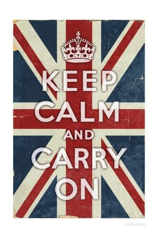 Union Jack - Keep Calm and Carry On Posters by Lantern Press at AllPosters.com