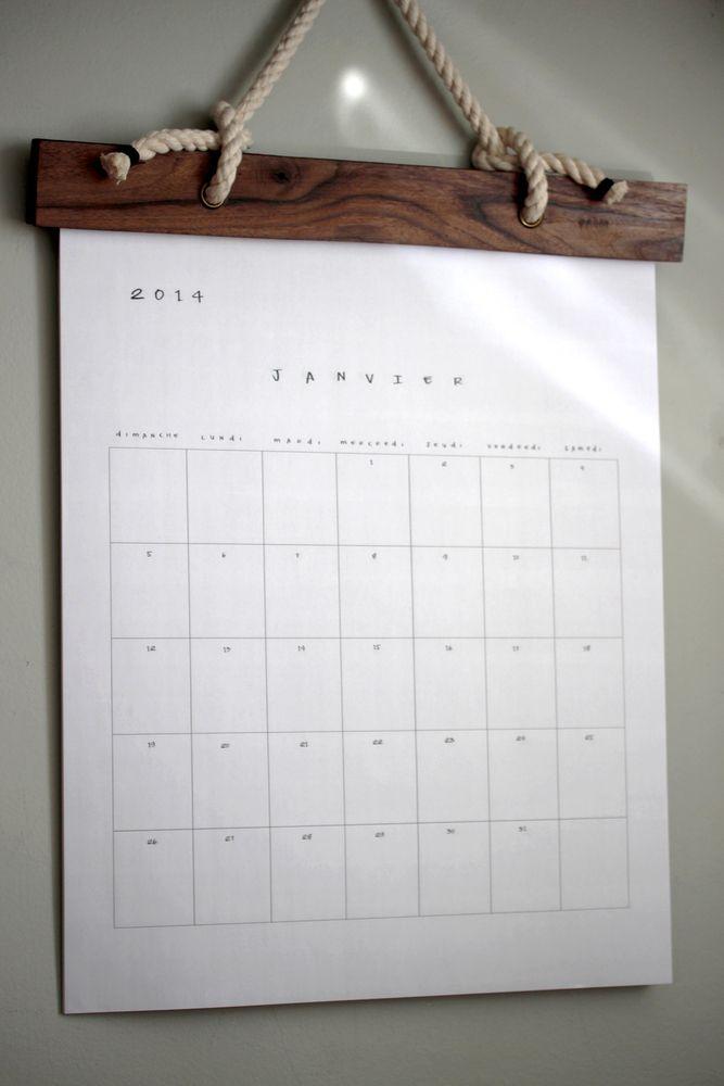 Image of Calendrier en bois de grange I Wood calendar