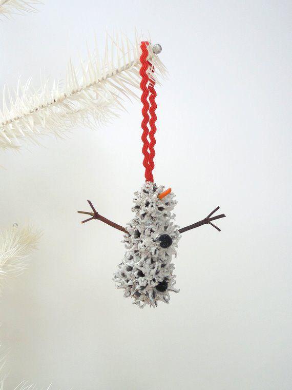 Snowman Christmas Ornament Sweet Gum by WestTwinCreationsLLC, $5.50