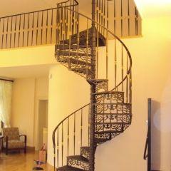 Interior wrought iron staircase