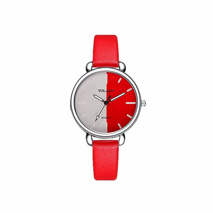 Red white Mix Fashion Women Watches 2019 Female Leather Strap Casual Wrist Watch montre femme Ladies Quartz Watch Reloj femenino
