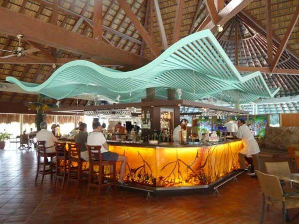Low wavy restaurant ceiling design resturant insperation pinterest ceilings restaurants - Restaurante attic barcelona ...