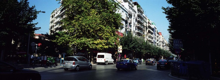 one of the most central streets downtown , Tsimiski Str ( Kouskoura corner) meeting point for youngsters