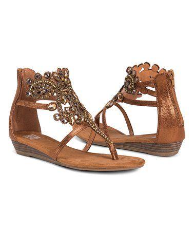 21c3e73e84f322 Look what I found on  zulily! Bronze Athena Gladiator Sandal - Women ...