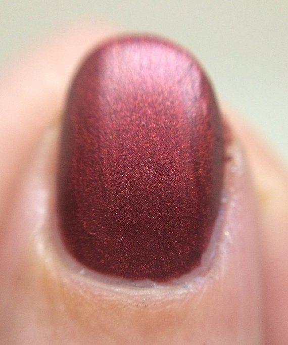 Devil Got My Woman Nail Polish – matte deep red