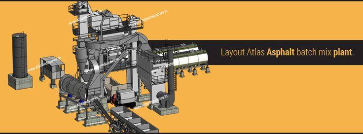 Layout of Atlas asphalt batch mix plant.  #AsphaltBatchMixPlant #AsphaltBatchingPlants #AsphaltPlant