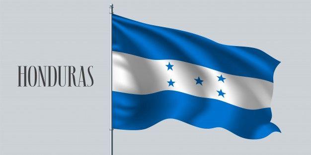 Honduras Ondeando La Bandera En El Asta Premium Vector Freepik Vector Bandera Pais Realista Patriotico Bandera De Honduras Bandera Honduras