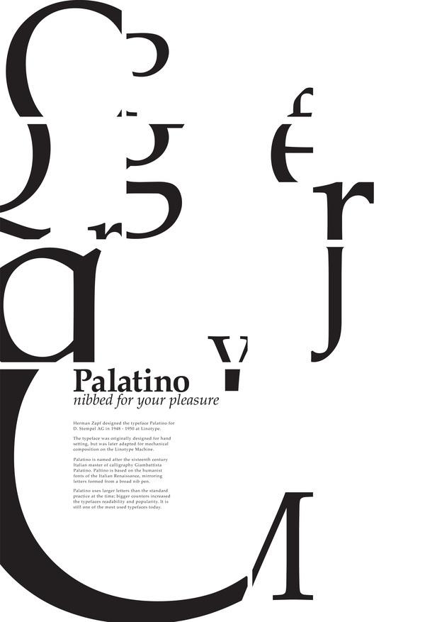 Palatino   Type Specimen Poster