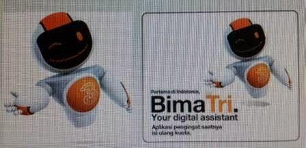 Aplikasi BimaTri Untuk mempermudah mengetahui kouta paket internet 3