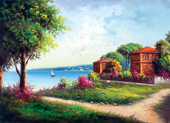 YAĞLI BOYA İSTANBUL MANZARA ybist034