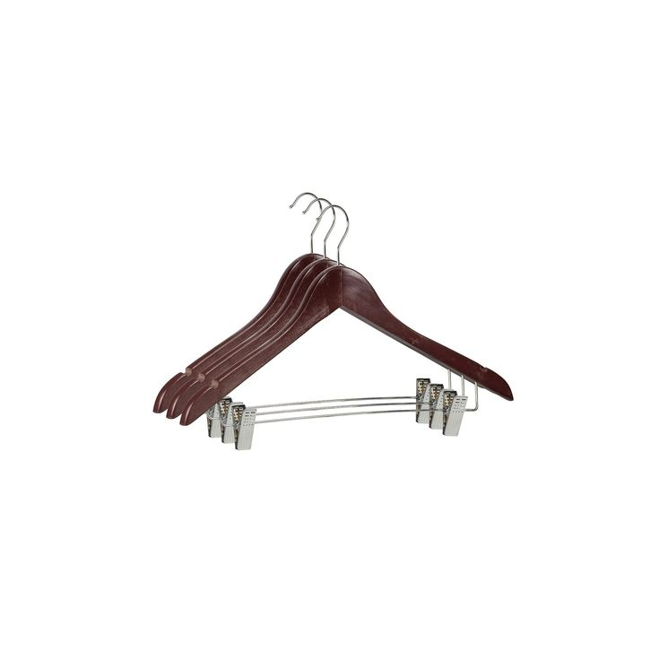 Sunbeam 3-pack Wood Hanger & Clips, Red