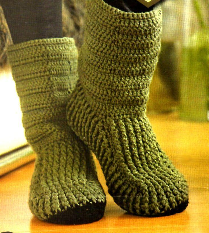 tejidos artesanales en crochet: botas tejidas en crochet (2 modelos)