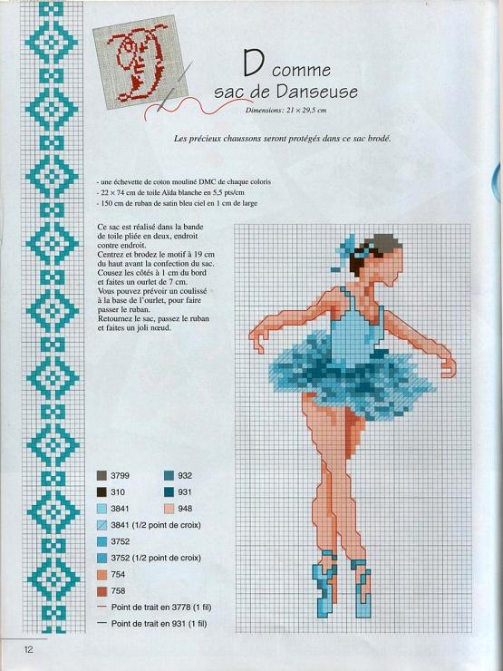 free cross stitch pattern - Gallery.ru / Фото #2 - Журнальчик - Mosca
