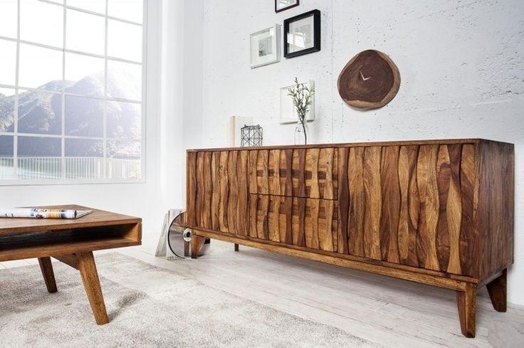 10959229 Komoda kredens Waves Retro drewno sheesham 160cm   Wyposażenie wnętrz \ Meble, biurka, komody  