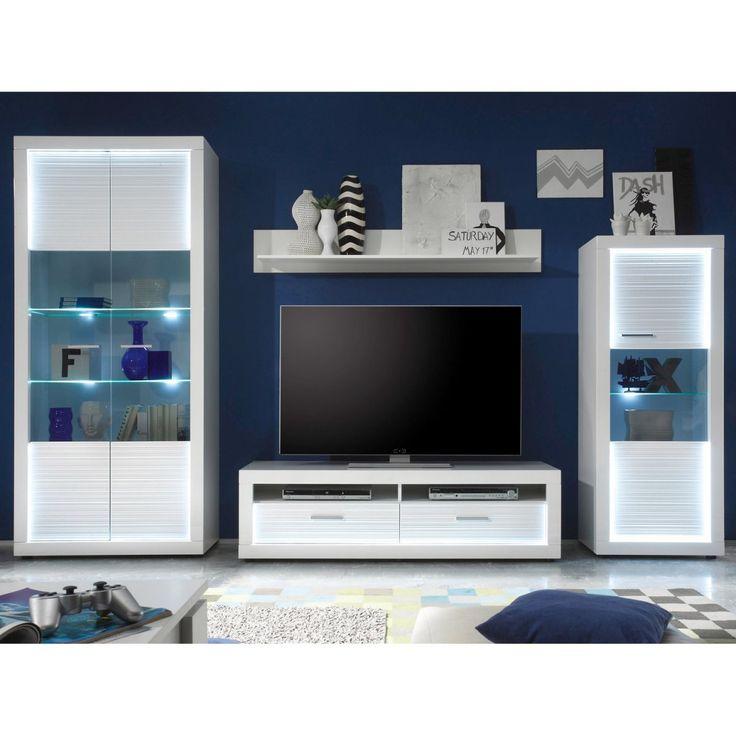 TV-Lowboard inkl. Beleuchtung Starlight 150 cm x 44 cm x 41 cm Weiß EEK: A-A++ Jetzt bestellen unter: https://moebel.ladendirekt.de/wohnzimmer/tv-hifi-moebel/tv-lowboards/?uid=b9b7b912-4518-58e2-ad54-2690c3125b73&utm_source=pinterest&utm_medium=pin&utm_campaign=boards #wohnen>möbel>schränke>tvschränke #tvlowboards #wohnzimmer #tvhifimoebel Bild Quelle: obi.de