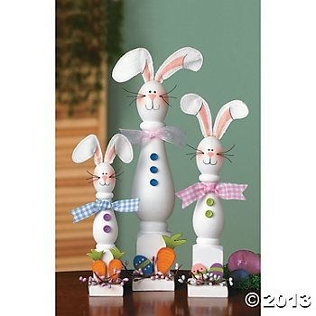 Christmas Spindle Crafts Spindle Bunnies Decorative Accessories Home Decor Terry S Village