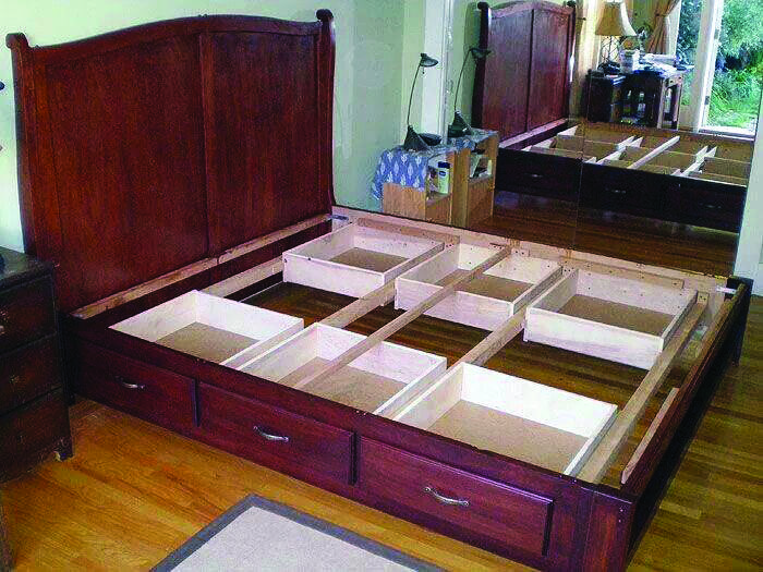 How To Use The Storage Space Under Your Bed Bed Frame With