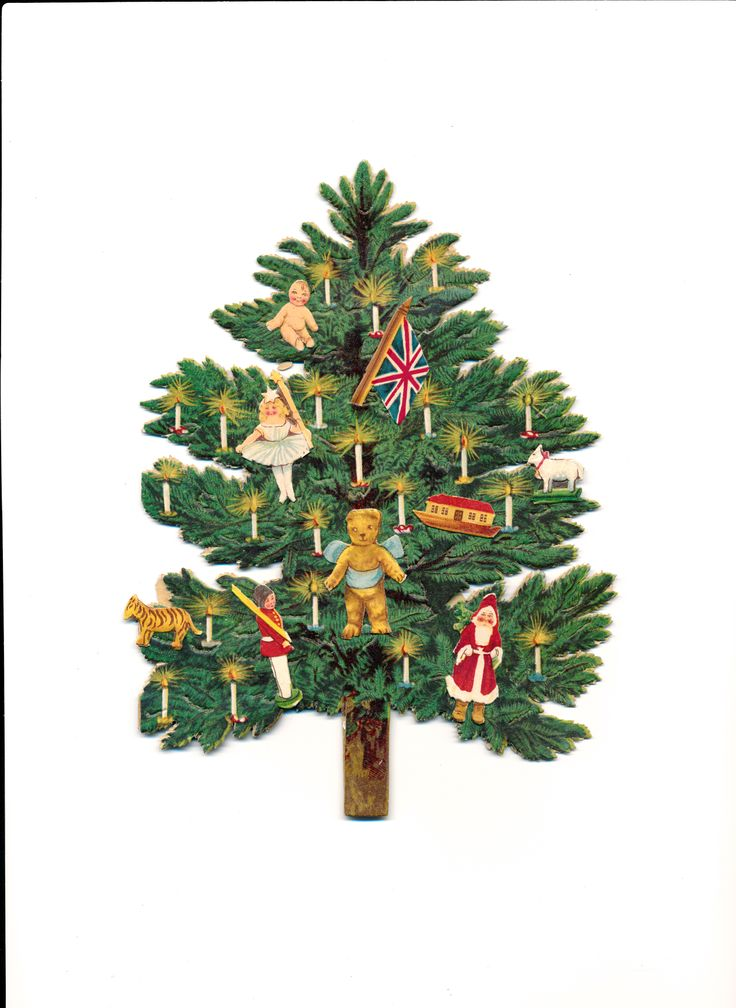 Victorian Scrap Christmas Tree | Victorian Greeting Cards | Pinterest: pinterest.com/pin/438608451181081641