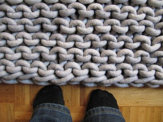 #rug knitted out of cotton rope