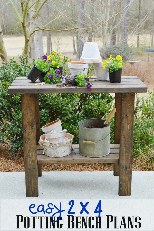 DIY Woodworking Ideas Potting Bench Plans
