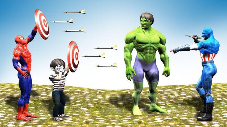 finger family Superheroes Playing Dart Game / Superheroes videos / Finge...