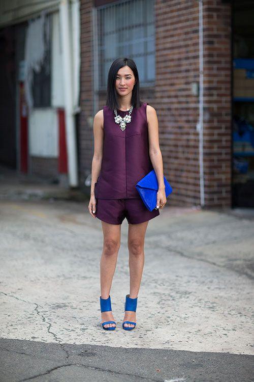 Australia Fashion Week: púrpura y azul cobalto