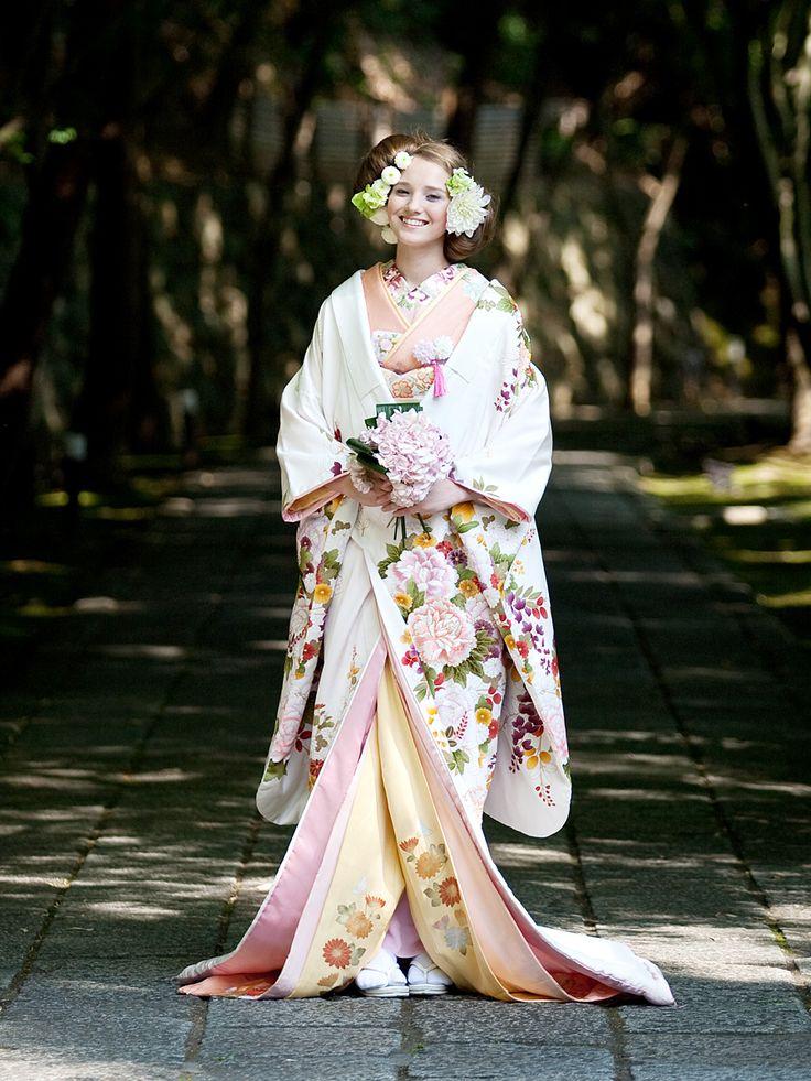 uchikake-style kimono
