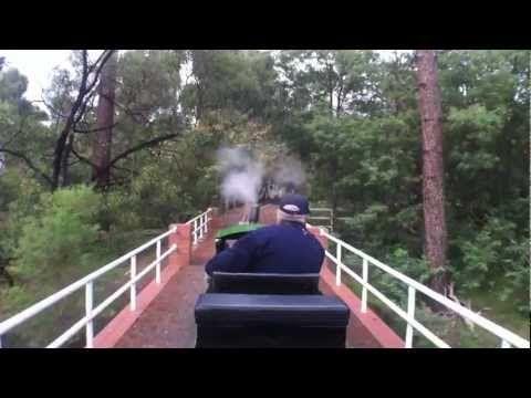 Train Ride - Front Seat on the Diamond Valley Railway (DVR) Eltham, Victoria - YouTube