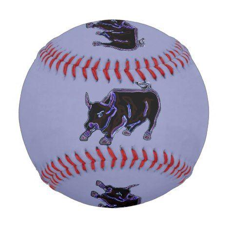 Wild Bull Pattern Baseball