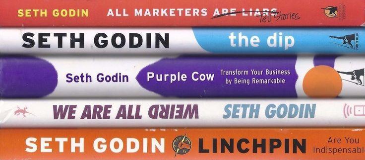 Seth Godin X5 Marketing Business Tell Stories  Dip Purple Cow Lynchpin Weird