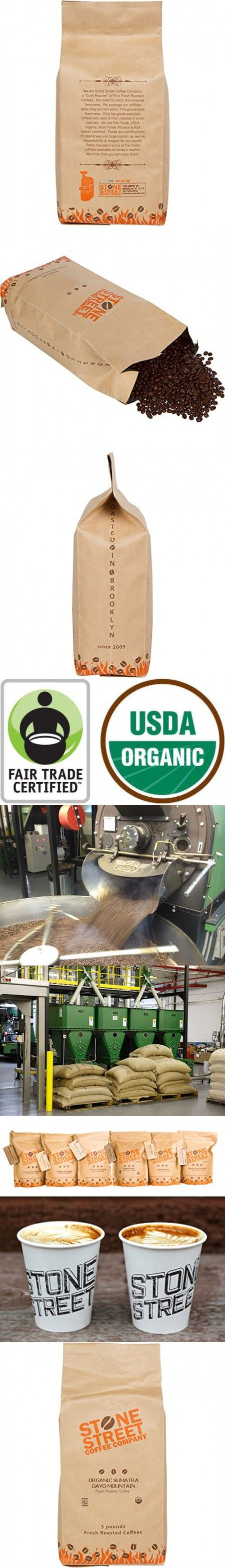 DARK SUMATRA ORGANIC Fair Trade Coffee   Whole Beans   5 Lb Bulk Large Bag   Premium Select Indonesian Coffee Origin