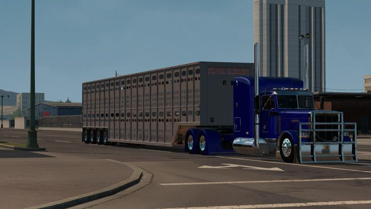 LIVETOCK 4EIXO V1.0 TRAILER - American Truck Simulator mod | ATS mod