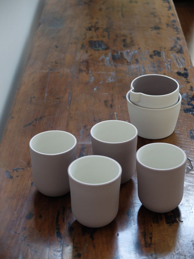 Cast Ceramics - Milk and Sugar set Coffee cups