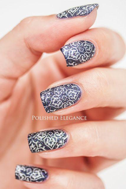 Nail Art - Stamping, Polish: OPI - Alcatraz Rocks, Stamp: Cheeky Jumbo Plate #3
