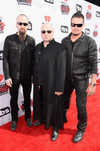 David Draiman and Dan Donegan Photos - (L-R) Musicians Mike Wengren, David Draiman and Dan Donegan attend the iHeartRadio Music Awards at The Forum on April 3, 2016 in Inglewood, California. - iHeartRadio Music Awards - Backstage