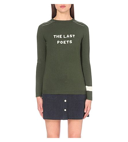 BELLA FREUD The Last Poets Merino Wool Jumper. #bellafreud #cloth #knitwear