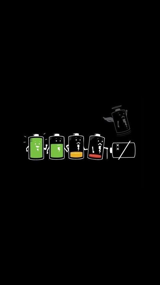 Battery Life Cycle Funny Iphone 8 Wallpapers Fond D Ecran Ipod