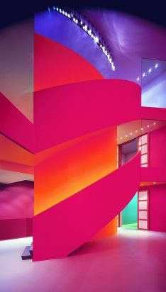 Groninger Museum; Design Alessandro Mendini. The NetherlandsAlessandro Mendini, Groningen Holland, Groninger Museums, Contemporary Art, Architecture, Netherlands, Bright Colors, Golden Towers, Grone Museums