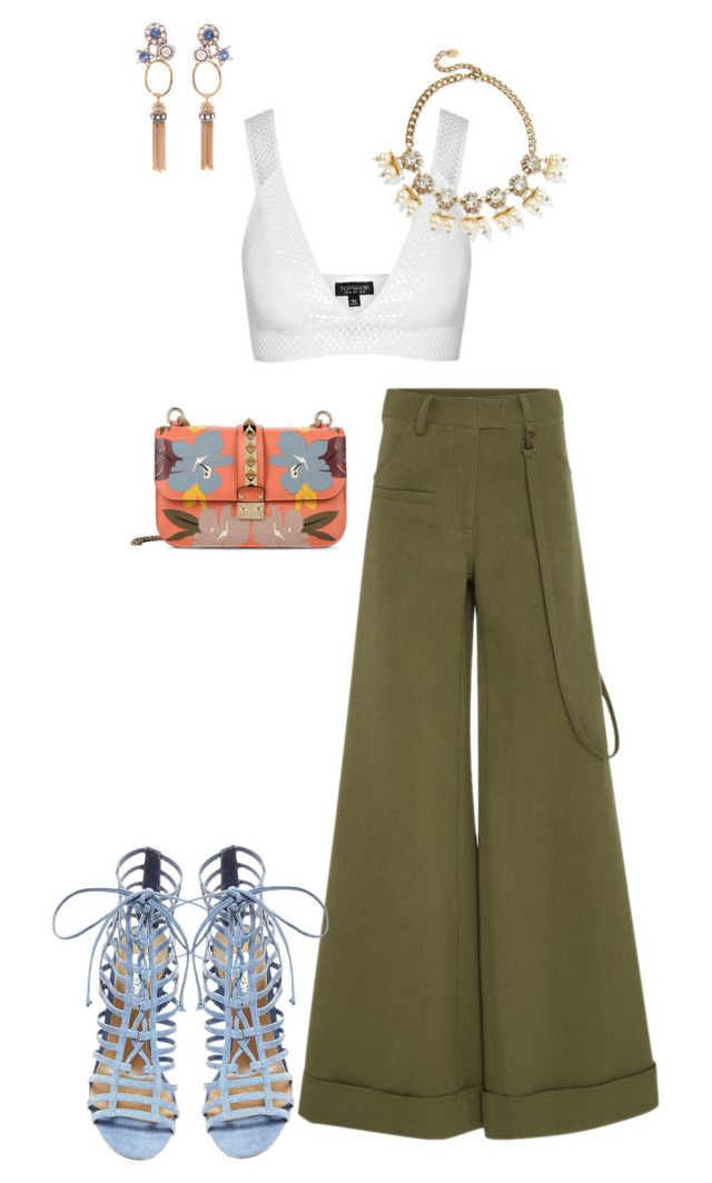 """""""Styles by TWL"""" by thewrightlook on Polyvore featuring Topshop, Rosie Assoulin, Valentino, Erickson Beamon, Selim Mouzannar and Steve Madden"""